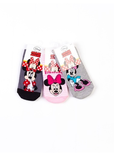 Minnie Mouse  Lisanslı 6 Çift Patik Çorap 15973 Pembe